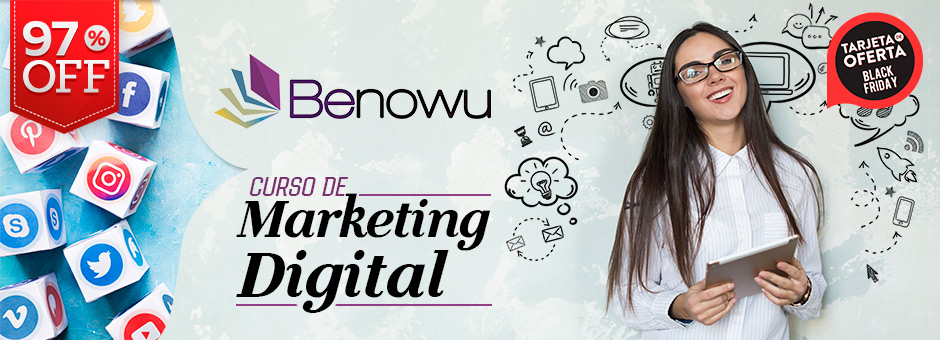 "97% OFF: Paga $11 por 2x1 en curso de Marketing Digital con ""Benowu"". ¡Ver más!"